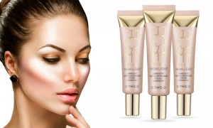 Rose Gold Highlight Liquid Shimmer MakeUp Base Cream Concealer