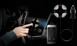 Round Bluetooth FM Transmitter
