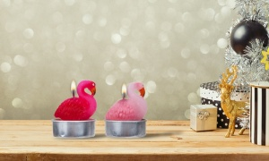 Flamingo Candles in Assorted Colors