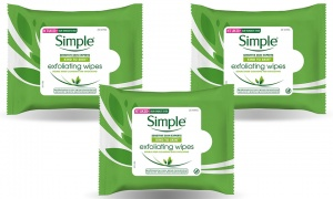 Simple Kind To Skin Exfoliating Facial Wipes 25 Pieces (pack of 3)