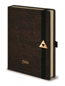 The Legend Of Zelda Premium A5 Notebook - Hyrule Map