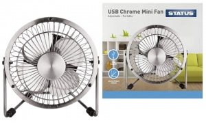 Status 4 Inch Metal USB Mini Fan