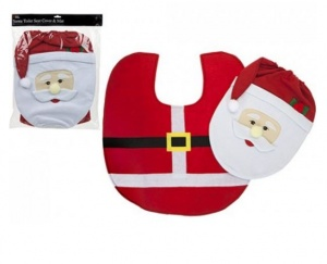 Santa Toilet Seat Cover and Mat