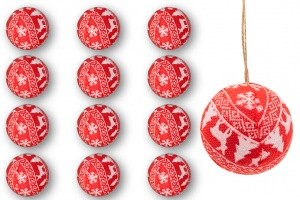 Set of 12 8cm baubles