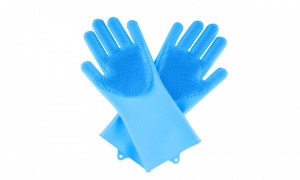 Silicone Dish Washer Glove with Scrubber