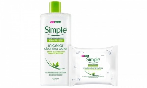 Simple Kind to Skin Micellar Cleansing Water Bottle With Cleansing Wipes