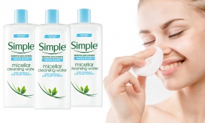 Simple Water Boost Facial Cleanser Micellar Water - 400ml Pack Of 3
