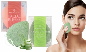Skin Academy Konjac Sponge and Facial Buffer