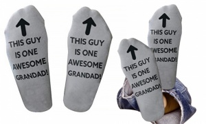 Flo socks Awesome Grandad Grey
