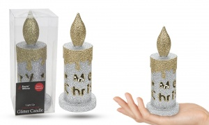 Light Up Colour Changing Glitter Candle