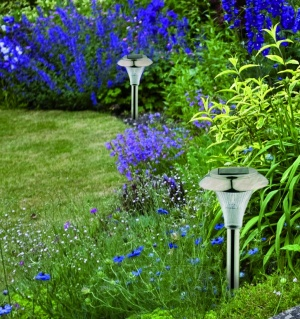 Stainless Steel Solar Garden Lantern Lights -