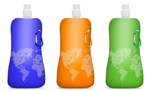 Folding Water Bottle  - assorted