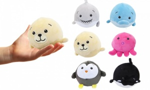 3.5inch Squishimi Plush 6 Assorted Sea - Life Series