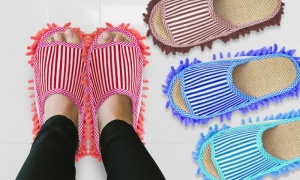 Comfortable Striped Slip On Cleaning Slippers Summer Edition