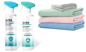 Sursol Disinfectant - 500ml and Fabric & Up Disinfectant 500ml