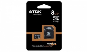 TDK Class 10 Micro SDHC Memory Card with Adapter