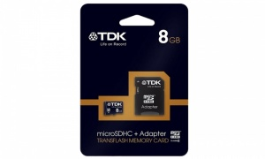 TDK Class 4 Micro SDHC Memory Card with Adapter