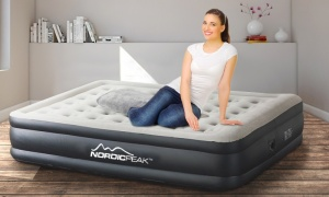 Nordic Peak Sleep Comfort Twin Size Airbed with Built In Pump