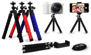 Smartphone Tripod Set with Bluetooth Clicker