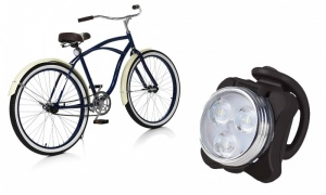 Rolson 3 SMD USB Recharge Red Bike Light
