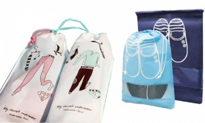 Pack of 2 underwear travel bags with small and large size shoe bag