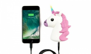 Unicorn Smartphone Charger Powerbank 2000mAh with Dual Charging Lead