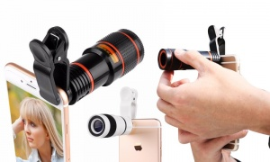 Universal 8x Clip On Mobile Phone Telescope Zoom Camera Lens