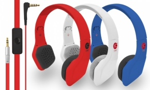 Vibe Fli On On-Ear Headphones with Mic