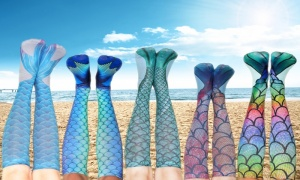 Women's Mermaid Print Knee-High Socks