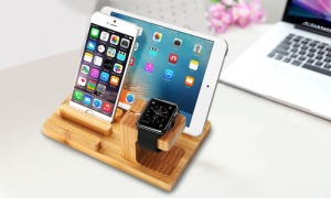 Wood Dock Station Holder for Apple Watch / Phone / ipad