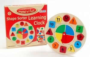 Wooden Learning Clock - D66729