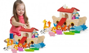 Tobar Wooden Noah's Ark Playset