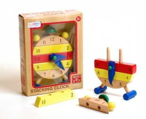 Wooden Stacking Clock - D66782