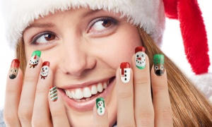 Christmas Metalic Nail Stickers