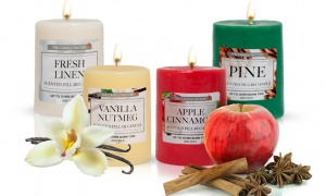 Scented Pillar Candles Assorted