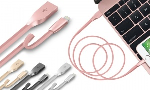 Tough Armour Zinc Alloy Lightning to USB Cable in Apple Colours