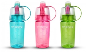 SportZ 400ml Water Bottle with Spray Function