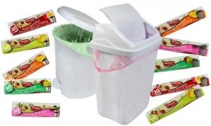 20 SCENTED 50L TIE HANDLE SWING BIN LINERS