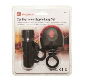 2pc High Power Bicycle Light Set