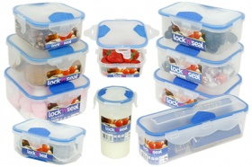 Lock 'n' Seal Food Containers Set of 10