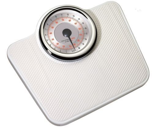 Large retro doctor's style bathroom scale