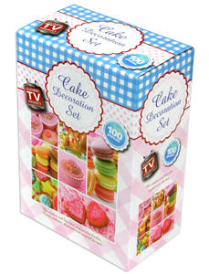 Cake Decor Kit : 100 Piece Cake Decorating Kit - Ebeez.co.uk