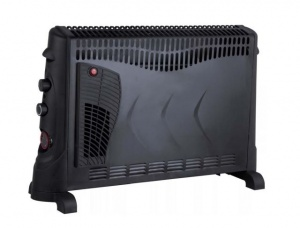 2kW Convector Heater With Turbo and Timer - Black
