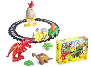 Dinosaur World Brick Train Set