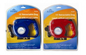 15' Retractable Dog Lead with 4 LED  Lights