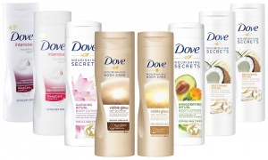 Dove Body lotions 250ml and 400ml Pk of 3