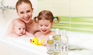 Earth friendly kids bath