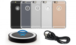 Wireless Charger Pad + Receiver for iPhones 5S/6S/6S+