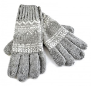 FAIRISLE GLOVES - Available in Silver Grey or Latte