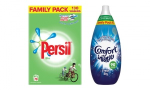 Persil Family Pack 130 Wash Bio +Comfort Intense Fabric Conditioner Fresh Sky90